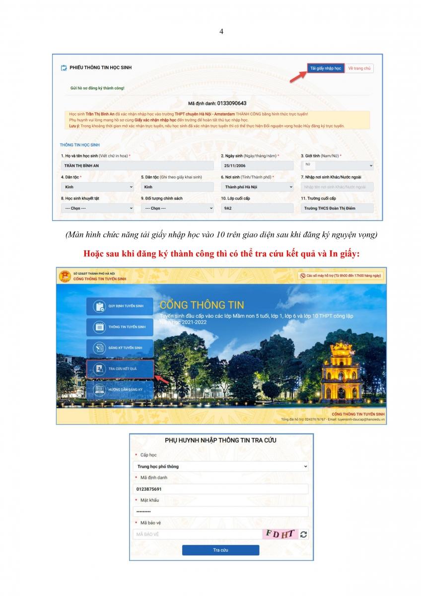 Hướng dẫn xác nhận nhập học lớp 10 (dành cho HS)