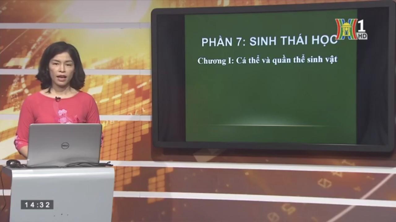 Cô giáo dạy Sinh học trên Truyền hình Hà Nội