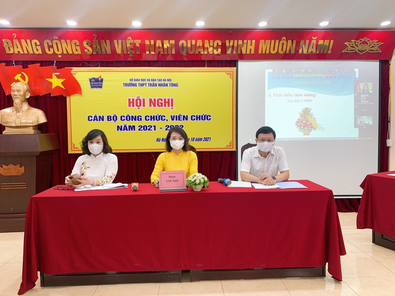 Hội nghị cán bộ công chức viên chức năm học 2021-2022